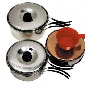 Menażka zestaw do gotowania ze stali nierdzewnej MFH (2 os.)