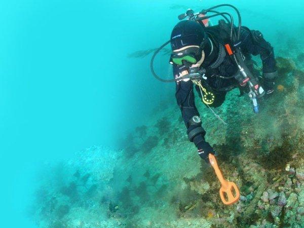 Podwodny wykrywacz metali Quest Metal Detectors Scuba Tector pomarańczowy wersja 2019