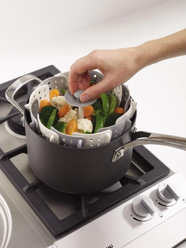 Koszyk do gotowania na parze szary HPBA