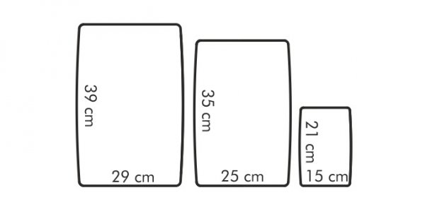 Deska do krojenia elastyczna PRESTO kpl 3 szt Tescoma