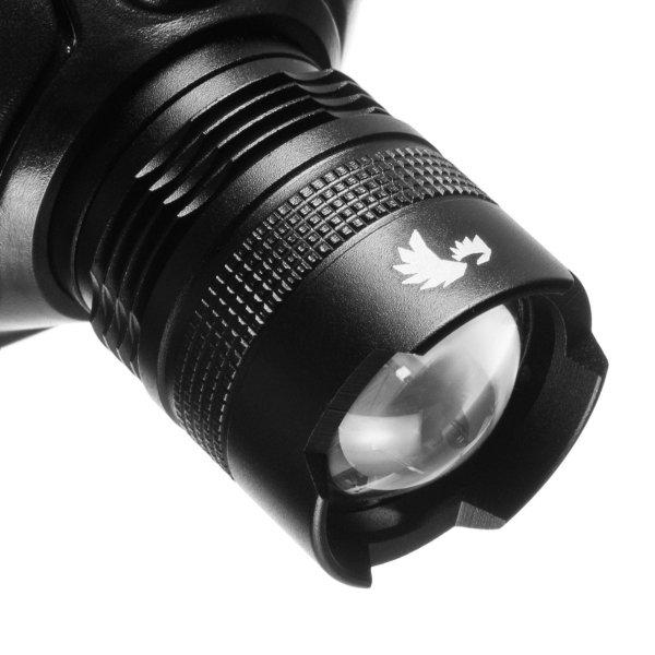 Bateryjna latarka czołowa LED z funkcją focus, 180 lm, FLASH
