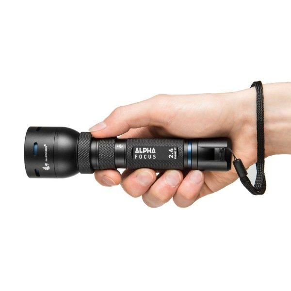 Ładowalna latarka ręczna z portem MicroUSB Mactronic Alpha 2.4