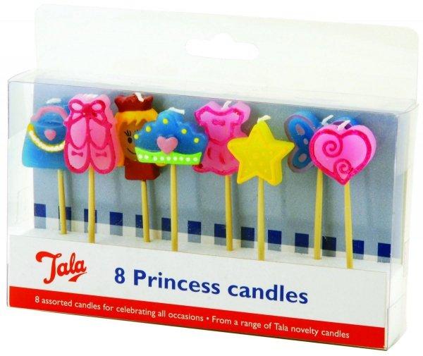 Świeczki na tort PRINCESS - 8 szt Tala