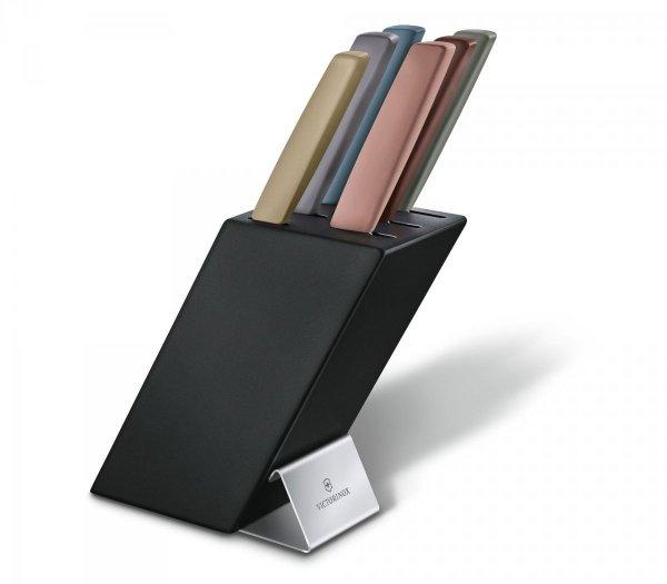 Victorinox Blok czarny na noże Swiss Modern, 6 elementów miks kolorów 6.7186.66