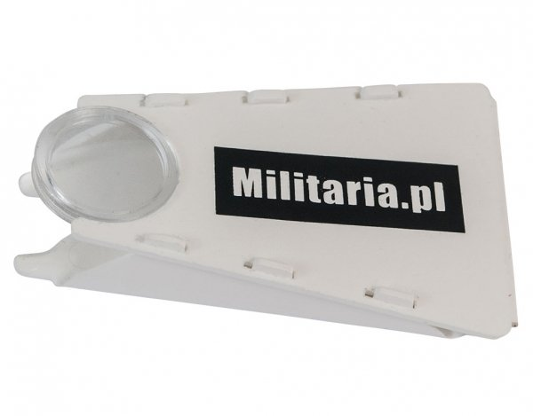 Kleszczołapka Militaria.pl z lupą