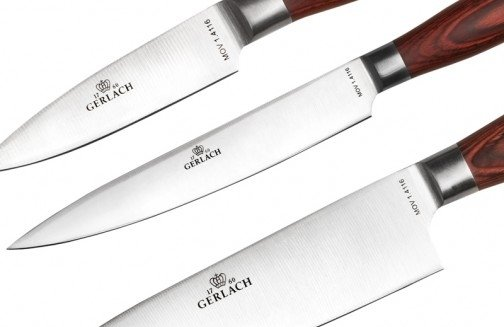 Gerlach 991 Deco Wood - komplet noży kuchennych (5 szt.) w bloku