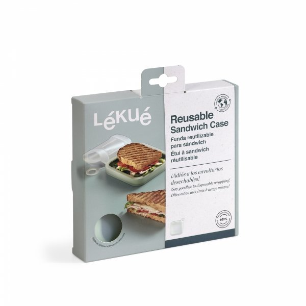 Pojemnik wielorazowy na kanapki  Lekue