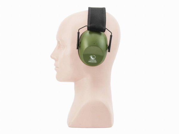 Słuchawki ochronne pasywne RealHunter PASSiVE oliwkowe