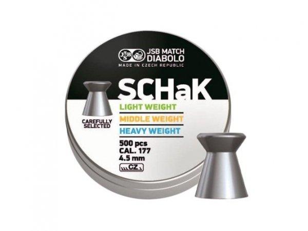 Śrut diabolo JSB Schak 500 LP 4,49 mm 500 szt.