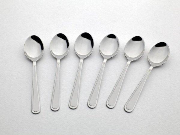 Gerlach Antica - komplet łyżeczek do kawy 6 szt. dla 6 osób, wysoki połysk