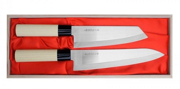 Satake Megumi Zestaw Nóż Bunka + Szefa