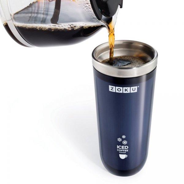 Kubek termiczny ICED COFFEE MAKER - czerwony Zoku