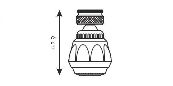 Perlator wody PRESTO, chromowany