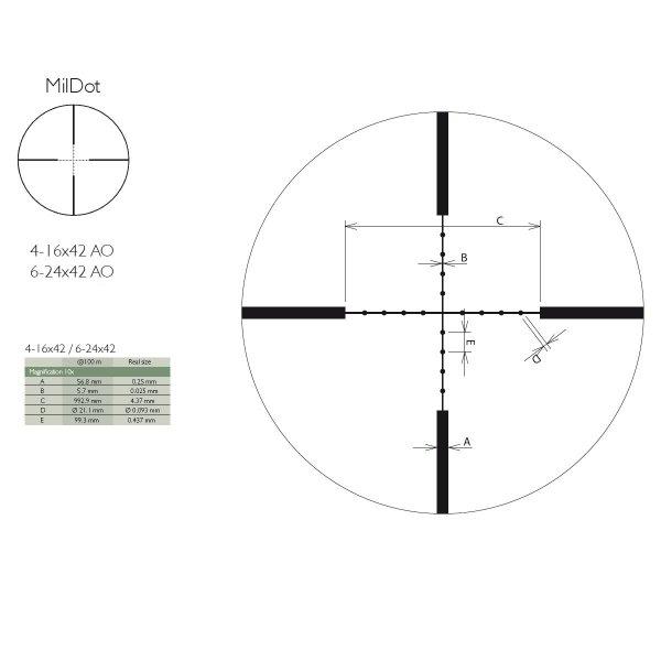 Luneta  Delta Optical Titanium 4-16x42AO MD
