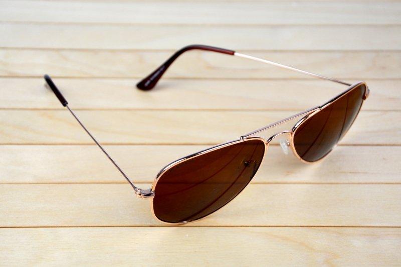 Aviator - Okulary Polaryzacyjne  - Brązowe