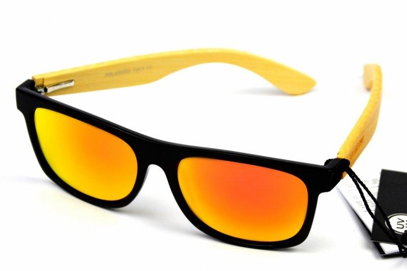 Jungle - Drewniane Okulary Polaryzacyjne - Pomarańczowe