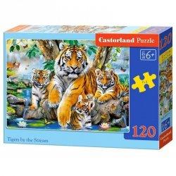 PUZZLE 120EL. TIGERS BY STREAM