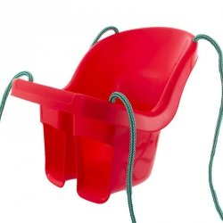 Huśtawka kubełkowa czerwona
