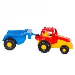 Traktor master z przyczepą