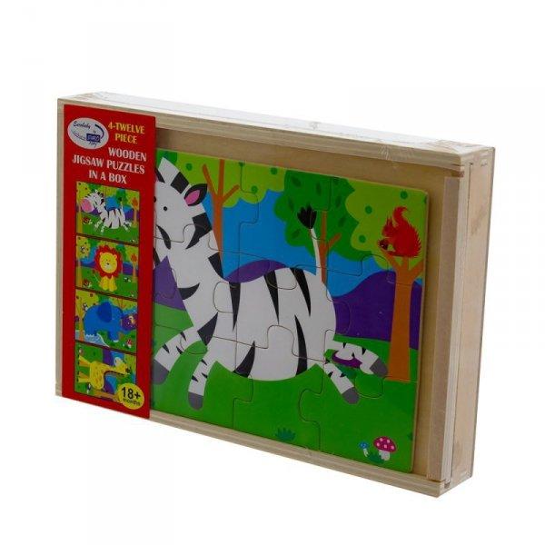 Zab puzzle safari 4 in 1