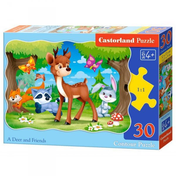 Puzzle 30 el. deer and friends