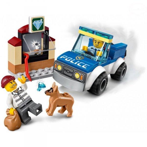 City oddział policyjny z psem