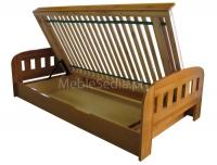 Łóżko sosnowe z pojemnikiem - Uno II