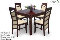 Stół Kwant 1 + 4 krzesła Itaka