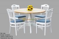 Stół Asta 1 + 4 krzesła Cynamon