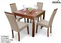 Stół Kwant 1 + 4 krzesła Kare
