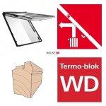 Okno dachowe Roto uchylno-wysokościowe Designo  R88C H200 Okno z pakietem 2-szybowym Comfort, szkło hartowane i laminowane, drewniane Uw = 1,1, Termo-blok WD