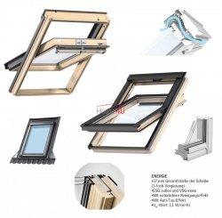 Okno Dachowe Velux GGL 3068 Uw = 1,1 Drewniane Okno obrotowe superenergooszczędne, szkło hartowane i laminowane P2A