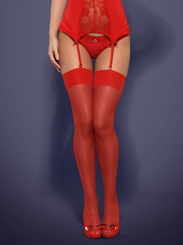 S800 pończochy czerwone  S/M