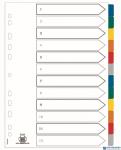 Przekładki kartonowe A4+ MYLAR 1-12 kolor ELBA 100204983