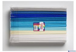 Bibuła 25x200cm mix niebieski (10szt) 8kol 2521-MIX3 HAPPY COLOR