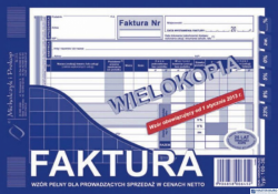 100-3E Faktura VAT MICHALCZYK&PROKOP A5 80 kartek wielokopia