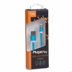 Kabel LIGHTNING USB niebieski Plug&Play PP-LIGHTING-BLUE