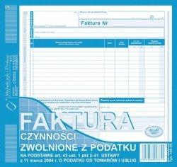198-2E Faktura czynności zwol.z pod.2/3 A4 MICHALCZYK I PROKOP