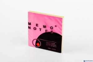 Bloczek samoprzylepny 75x75 mm, 80 kartek, różowy brilliant