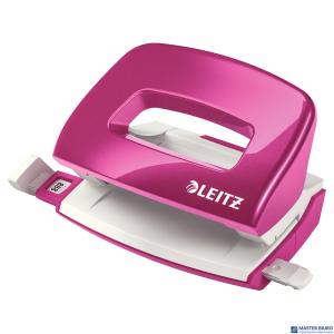 Dziurkacz mini LEITZ WOW metalowy różowy metalik 50601023