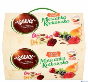 Cukierki WAWEL MIESZANKA KRAKOWSKA Nowe Smaki galaretki w czekoladzie 2,8