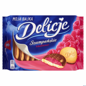 Ciastka DELICJE Szampańskie malina 294g