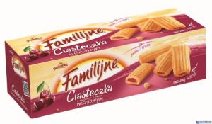 Ciasteczka FAMILIJNE wiśniowe 130g JUTRZENKA