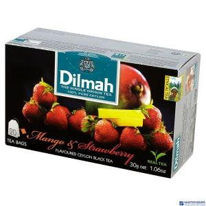 Herbata DILMAH AROMAT MANGO z TRUSKAWKĄ . 85036 (20 saszetek)