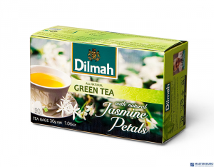 Herbata DILMAH GREEN JAŚMIN 20t*1,5g zielona