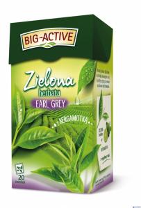 Herbata BIG-ACTIVE EARL GREY z bergamotką 20tx1.5g zielona