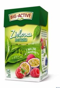 Herbata BIG-ACTIVE MALINA-MARAKUJA zielona 20t