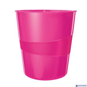 Kosz na śmieci 15L LEITZ WOW różowy metalik 52781023