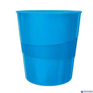 Kosz na śmieci 15L LEITZ WOW niebieski metalik 52781036