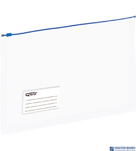 Koperta A4 PP na suwak poszerzana niebieska 120-1789 GRAND EC011B